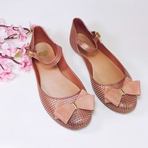 Mel by Melissa Dusty Rose Pink Mary Janes Size 8